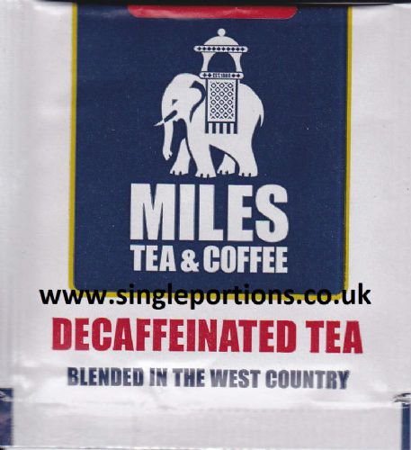 Decaffeinated tea bags - foil sealed - single portion sachets online